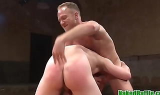 Wrestling jock gets rough fucked