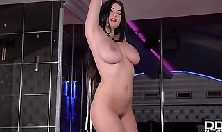 Lucy Li'_s An Impecable Milf Masturbating On A Stripper Pole