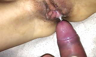 Making my girlfriend Elina pregnant filling her pussy