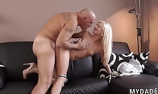 Old milf first time Horny light-haired wants to attempt hominoid