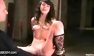 boobs petite brunette small bdsm cute bondage hogtied